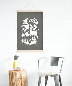 Fresh Words Market Gray Otomi DIY Birch Frame Kit//