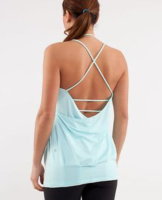 My latest lululemon love -- Flow and Go tank. It's made for flat-chested gals ... So we can show off our backs! Will be great for workouts and casual wear in the summer.