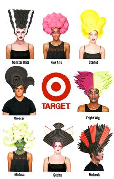 "Chris March's (he was on Project Runway) Exclusive ""Halloween Wig Collection"" for Target."