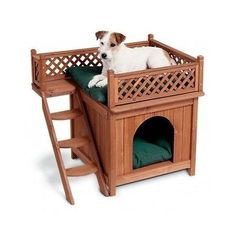 Dog Beds Kennel Houses Wood Stairs Pets Durable Cedar Sleep Bed Dog Puppy Room