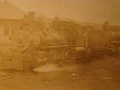 Original RPPC Railroad Locomotive Train Possibly C. & E. I. at or Near Danville IL.