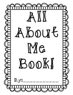 Preschool All About Me Book Printable On Pinterest