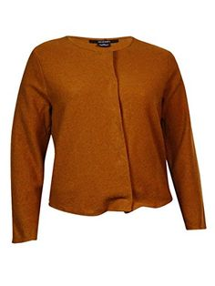Alfani Womens Wool Snap Button Down Jacket Sweater L Brushed Sienna ** Check out this great product. (It is an affiliate link and I receive commission through sales)