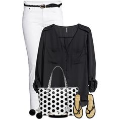 Black & White, created by cindycook10 on Polyvore