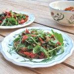 Vegan Roasted Aubergine, Sun-Dried Tomato and Pine Nut Salad