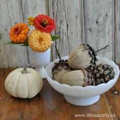 Fall Home Decor DIY Projects - The Cottage Market  (These are so cute! I would love to add them to my fall décor)