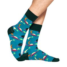 Happy Socks Space Sock in Turquoise