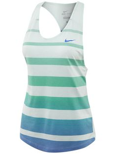 For my lady ballers out there. Super cute. #Nike Women's Force Cotton Stripe Tank $50.00. #tennis #tanktop #fashion