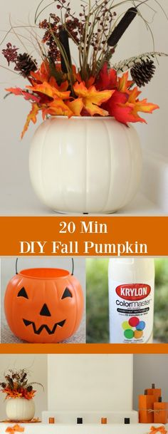 This super easy DIY Fall Pumpkin only takes 20 minutes start to finish! Using a plastic pumpkin and a can of spray paint, and add some bling from dollar tree necklace make this fun fall piece! Thanksgiving Crafts, Holiday Crafts, Holiday Fun, Easy Fall Crafts, Diy Thanksgiving Decorations, Fall Decorations Diy, Fall Pumpkin Crafts, Pumpkin Pumpkin, Diy Crafts For Kids