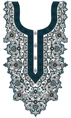 9331 Neck Embroidery Design