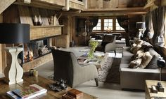 Luxury Ski Chalet Style - living room