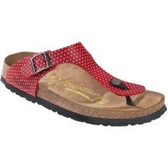 db71906695 Žabky-Zdravotní obuv Papillio Gizeh - Mini Points red   Birko-flor