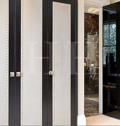 Nailing and suede to wardrobe doors - Hill House Interiors Built In Furniture, Luxury Furniture, Closet Vanity, Bedroom Cabinets, Wardrobe Doors, Wardrobe Design, House On A Hill, Luxury Lighting, Custom Cabinetry