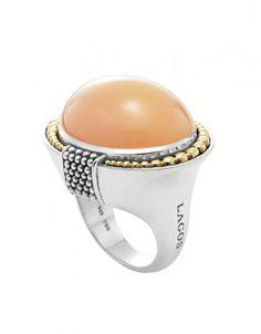 LAGOS Jewelry Peach Moonstone Gemstone Statement Ring | LAGOS.com