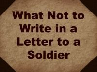 Writing Letters to Deployed Soldiers: What Not to Write - Living a Sunshine Life