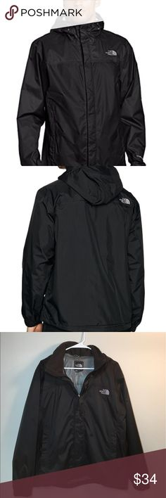 The North Face Men's Hooded Jacket ✔️Light Rain Jacket with Ability to Fold In Hood ✔️Zipper Front Pockets ✔️Covered Zipper ✔️The inside lining is ripped but you cannot see when jacket is zipped up, otherwise great condition! The North Face Jackets & Coats Raincoats