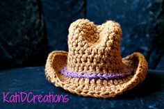 Ok, I can't crochet, need some help making this for Sara's doll.  Hint hint! Ravelry: Cowboy Hat pattern by Kati Donahue