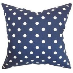 Refresh your home for summer with this must-have design.  Product: PillowConstruction Material: Cotton cover and 95/5 down fillColor: Blue and whiteFeatures:  Insert includedHidden zipper closureMade in the USA Dimensions: 18 x 18Cleaning and Care: Spot clean