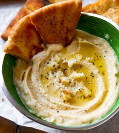 Seriously Smooth Roasted Garlic Parmesan Hummus