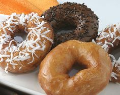 Rhodes Doughnuts - SUPER EASY! using Rhodes rolls. :) Doing this very very soon!