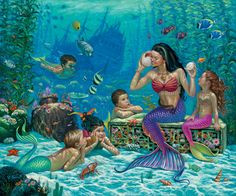 Fantasy - Mermaid Wallpapers and Backgrounds ID : 232108 Fantasy Mermaids, Mermaids And Mermen, Pics Of Mermaids, Mythical Creatures, Sea Creatures, Mermaid School, Image Blog, Mermaid Wallpapers, Mermaid Photos