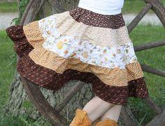 Do-Si-Do Skirt - Pecan Sandies - handmade goods with unique designs