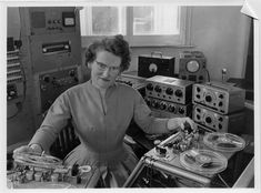 Daphne Oram at the BBC in the late 1950s