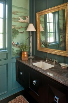 LISA HILDERBRAND ~ DESIGN IN CHARLESTON; color for panelling in library