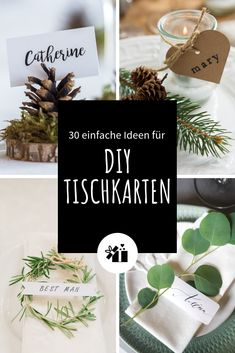 30 simple ideas for DIY place cards 30 einfache Ideen DIY-Tischkarten Make place cards yourself? Your guests are sure to be happy. Ikea Wedding, Wedding Boxes, Wedding Menu, Wedding Tips, Wedding Simple, Wedding Planning, Gold Wedding, Wedding Invitations, Wedding Themes