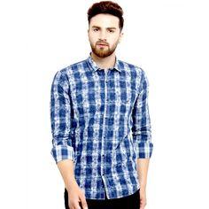 d7237939bc Kivon Mens Navy Blue Checkred Casual Cotton Shirts – Kivon Shirts