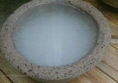 Leaching Your New Hypertufa Pot