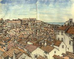 absolutely stunning work - Dubrovnik 'skine.art - Moleskine Art