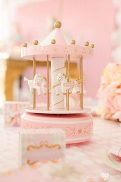 Searching for a dreamy party? This Enchanted Carousel Birthday Party at Kara's Party Ideas is filled with inspiration galore! Carousel Birthday Parties, Carousel Party, First Birthday Parties, Birthday Decorations, Girl Birthday, First Birthdays, Horse Cupcake, Fantasy Party, Second Birthday Ideas