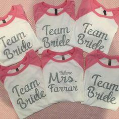Personalized Bridesmaid Baseball Shirts - Raglan Bridesmaid shirts by AllisonsVinylDesigns on Etsy