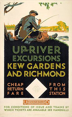 Different design for Kew Gardens poster.