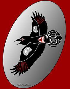 raven 071107 b ps copy by Haida Point Art, via Flickr