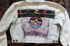 Check out this item in my Etsy shop https://www.etsy.com/listing/532870019/boho-denim-jacket-cropped-embroidered