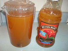Apple Pie Shots:  1 gal apple juice, 1 gal apple cider, 2 C sugar, 8 cinn sticks, 6 whole cloves, 1 C butterscotch schnapps, 1 ltr everclear.  Simmer all except alcohol for 1 hour.  Cool overnight then add alcohol.