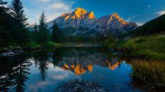 montañas 1920x1080 Fondos, cielo, reflexión, hierba, lago, río