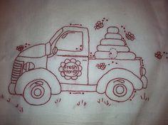 Honey Truck Pattern by Busyascanbe on Etsy