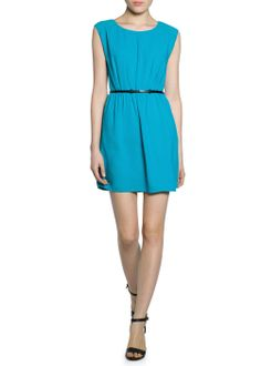 Chiffon panel dress