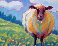 Cow Face Original Painting 8x8 by betsymclellanstudio on Etsy