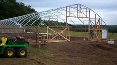 High Tunnel Construction @ Lizonberry Farms. Erecting a High Tunnel for extended season vegetable crops in Missouri.
