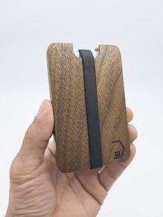 Store your business cards, gift cards, credit cards, or ID in this sleek, lightweight all wood walnut card holder wallet. Add your favorite gift card into the slot and you have a double gift for a lucky recipient. Fits in your front pocket or store it in your bag for easy access. Makes great