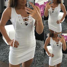 8f461e503e38 Sexy Lace-up Bodycon Mini Dress Mini Dresses