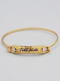 {Mantra Bracelet - Take Pride}
