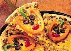 Jack-o'-Lantern Pizza Recipe