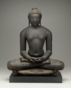 The Jina is the ideal of the yogic ascetic, the wandering meditative mendicant. The keystone to Jain religious practice and an ideal shared by Hindus and Buddhists in the Indian subcontinent. w. Rajasthan, 12th C. Jain religion.
