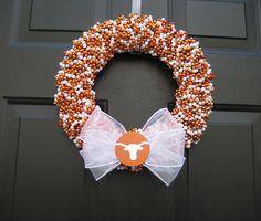 House Divided Wreath Custom Any Teams. $55.00, via Etsy.