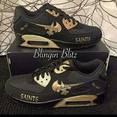 New Orleans Saints sneakers. nike New Orleans Saints,nike New Orleans Saints Saints Gear, Nfl Saints, New Orleans Saints Football, Saints Memes, Best Football Team, Football Shoes, Football Gear, Who Dat, Nike Air Force Ones